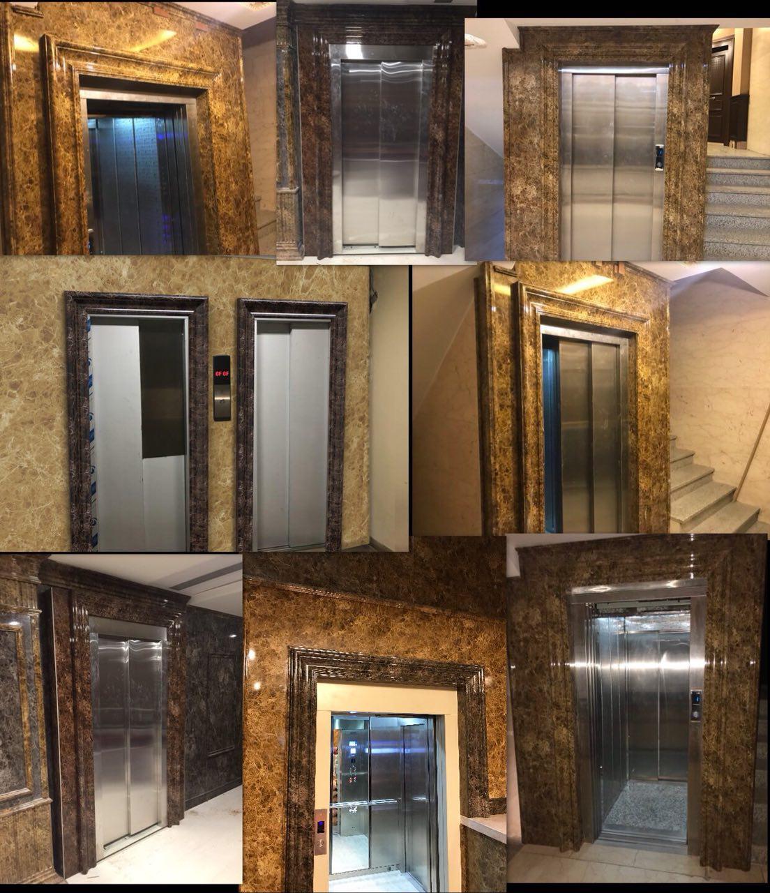 قاب دور درب آسانسور استونیت